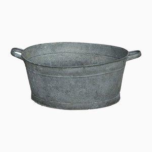 Maceta o jardinera vintage pequeña de zinc