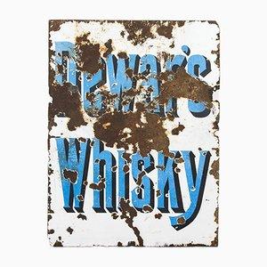 Cartel de whisky Dewar's vintage esmaltado, años 20