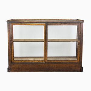 Antiker Schrank aus Glas & Holz