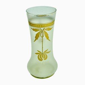 Antike französische Kristallvase im Jugendstil