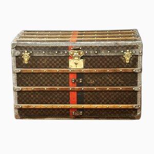 Mobiletto in faggio, ottone e metallo di Louis Vuitton, Francia, anni '20