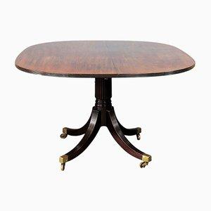 Tavolo da pranzo Regency in mogano massiccio, inizio XIX secolo