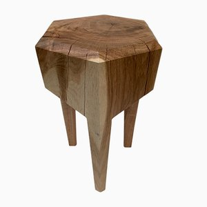 Oak Hexagon Stool by Michael Haveloh, 2019