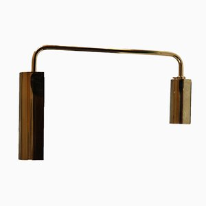 Modernist French Brass Articulated Wall Light from SCE, 1970s