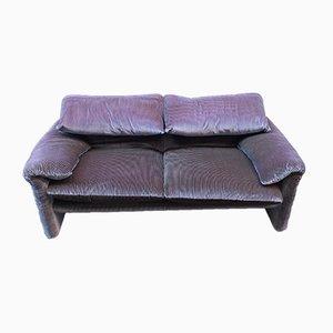 Vintage 2-Sitzer Maralunga Sofa von Vico Magistretti für Cassina