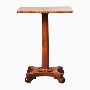 Mesa pedestal antigua de caoba