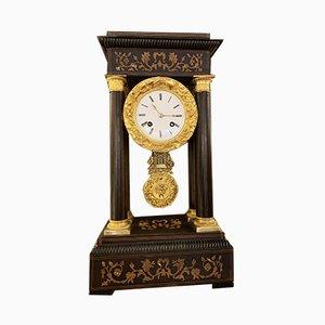 Antike französische Uhr mit Holzgehäuse von Japy Freres, 1850er