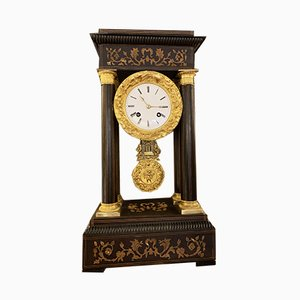 Antique French Wooden Clock by Japy Freres, 1850s