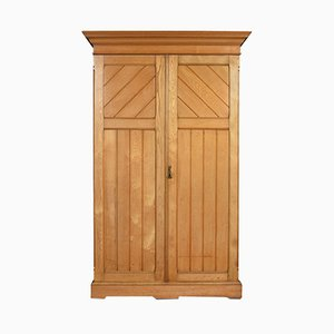 Antique Arts & Crafts Ash Wardrobe