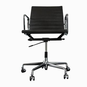 Chrome & Leather EA 117 Desk Chair by Charles & Ray Eames for Vitra, 2000s