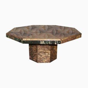 Tavolino da caffè ottagonale in marmo, anni '70
