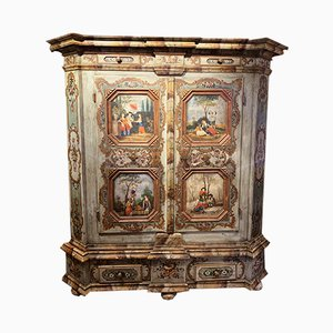 Antique Painted Wood Cabinet, 1860s