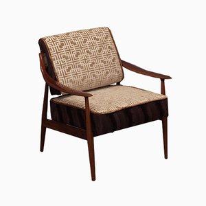 Mid-Century Italian Velvet Geometric Armchair, 1950s