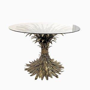 Italienischer Esstisch mit Gestell aus Schmiedeeisen, 1960er