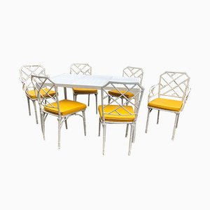 Aluminum Garden Table & Chairs from Brown Jordan, 1960s