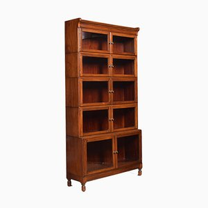 Antique Mahogany 5-Part Bookcase