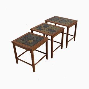 Tavolini ad incastro Mid-Century in palissandro, Danimarca, anni '60