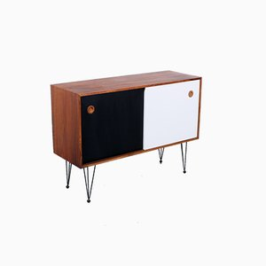 Modernist Black and White Rosewood Sideboard by Arne Vodder for Sibast, 1950s
