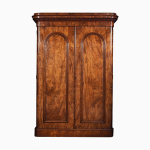 Antique Mahogany 2-Door Wardrobe