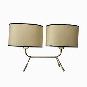 Mid-Century French Brass Table Lamp from Lunel, 1950s