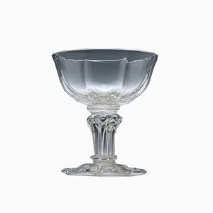 18th-Century Pedestal Stem Champagne Glass, 1750s