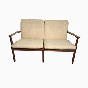Dänisches Vintage Sofa mit Gestell aus Teak von Grete Jalk für Glostrup, 1960er