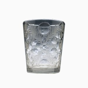 18th-Century Cut & Engraved Bohemian Glass Tumbler, 1720s