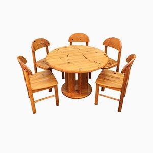Dänisches Set aus Tisch & Stühlen aus Kiefernholz von Rainer Daumiller für Hirtshals, 1970er