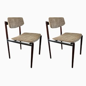Mid-Century Modern Dutch Rosewood Dining Chairs, 1960s, Set of 2