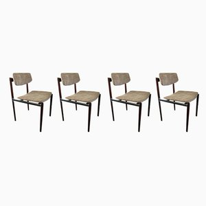 Mid-Century Modern Dutch Rosewood Dining Chairs, , 1960s, Set of 4