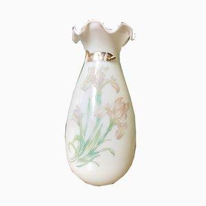 Mid-Century Italian Hand-Painted Murano Glass Vase, 1950s