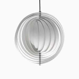 Danish Metal Moon Ceiling Lamp by Verner Panton for Louis Poulsen, 1960s