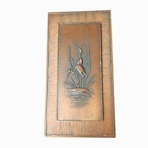 Dekorative Vintage Wandtafel aus Kupfer