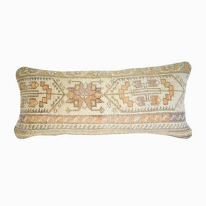 Vintage Turkish Handmade Lumbar Rug Cushion Cover from Vintage Pillow Store Contemporary