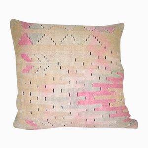 Handgearbeiteter türkischer Kelim Kissenbezug mit geometrischem Muster von Vintage Pillow Store Contemporary