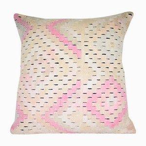 Quadratischer türkischer Vintage Kelim Kissenbezug von Vintage Pillow Store Contemporary