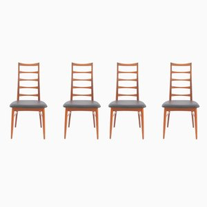 Chaises d'Appoint Lis en Teck par Niels Koefoed pour Hornslet Møbelfabrik, Danemark, 1968, Set de 4