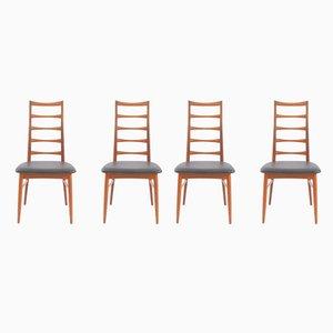 Dänische Lis Stühle aus Teak von Niels Koefoed für Hornslet Møbelfabrik, 1968, 4er Set
