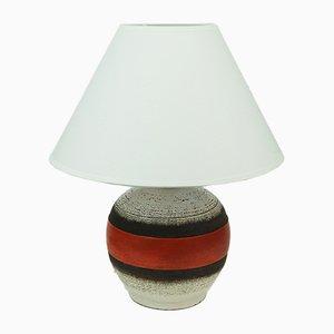 Lámpara de mesa francesa Art Déco de cerámica de Keramos, años 50