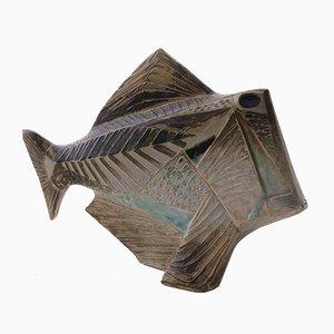 Scultura moderna a forma di pesce in ceramica di Carl Harry Ståhlhane per Rörstrand, Scandinavia, 1951