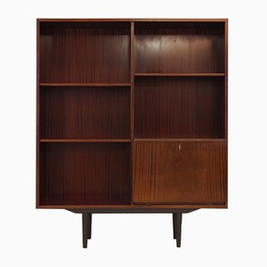 Danish Mahogany Veneered Bookcase from Omann Jun, 1960s