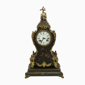 Reloj de péndulo francés Napoleón III antiguo de madera