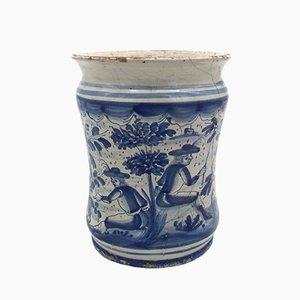 Vase Majolica Antique de Dallari, Italie, 18ème Siècle