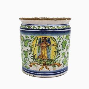 Antike italienische Majolika Vase von Dallari, 18. Jh.