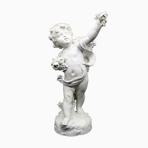 Escultura de biscuit francesa antigua de Hippolyte Moreau