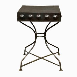 Small Art Deco Style Iron Side Table, 1950s