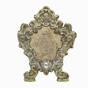 18th Century Italian Louis XV Silver Foil Frame