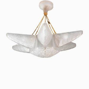 Art Deco French Glass Bramble Chandelier by R.Lalique, 1924