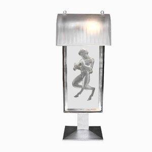 Französische Art Déco Tischlampen aus Glas von R.Lalique, 1931
