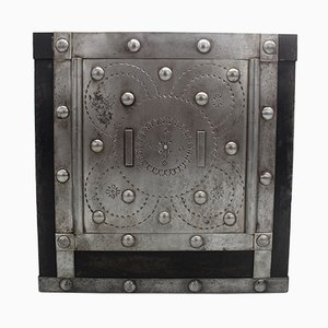 Small Antique Italian Studded Safe